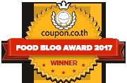 Banners for รางวัลบล็อกอาหารปี 2017 – Winner Badge