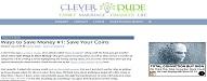 Top 35 Money Saving Blogs of 2020 cleverdude.com